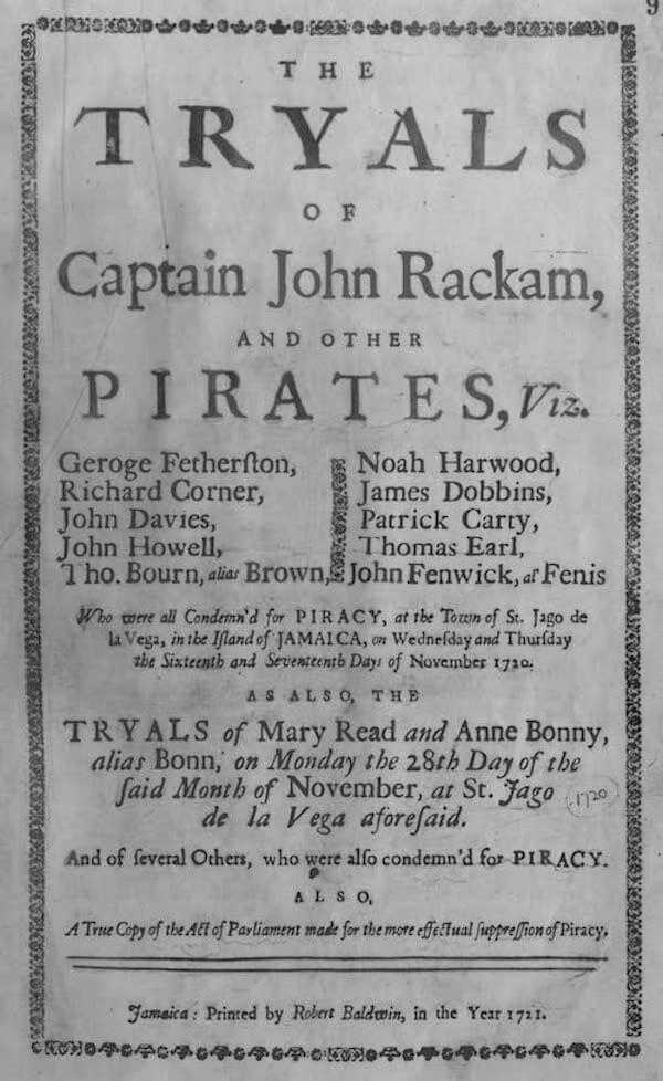 Tryals of Captain John Rackham (1721)