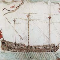Types of Pirate Ships - Adventure Galley