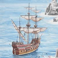 Types of Pirate Ships - Golden Hind