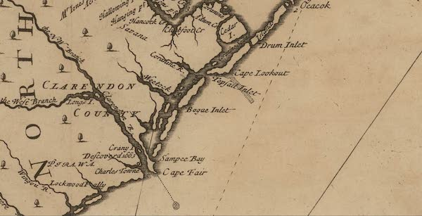 Cape Fear River and Topsail Inlet - General Surveyor (1711)