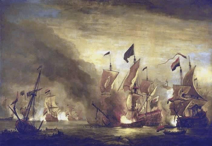 Charles Vane - Fireship (Willem van de Velde 1672-1707)