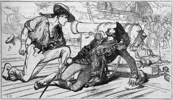 Bartholomew Roberts Death - The Sea (1877)