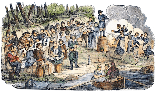 Blackbeard and Vane's Crews - Pirates Own Book (1837)