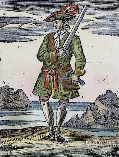 'Calico' Jack Rackham - A General History of the Pyrates (1725)