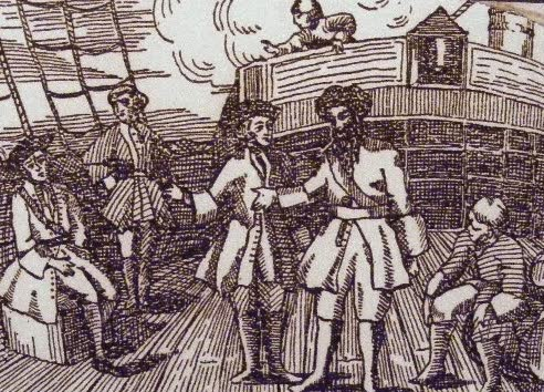 Stede Bonnet and Blackbeard - A General History of Pyrates (1725)